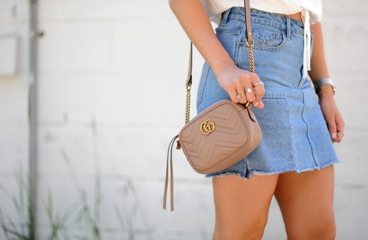 Denim Skirt: Styled Two Ways