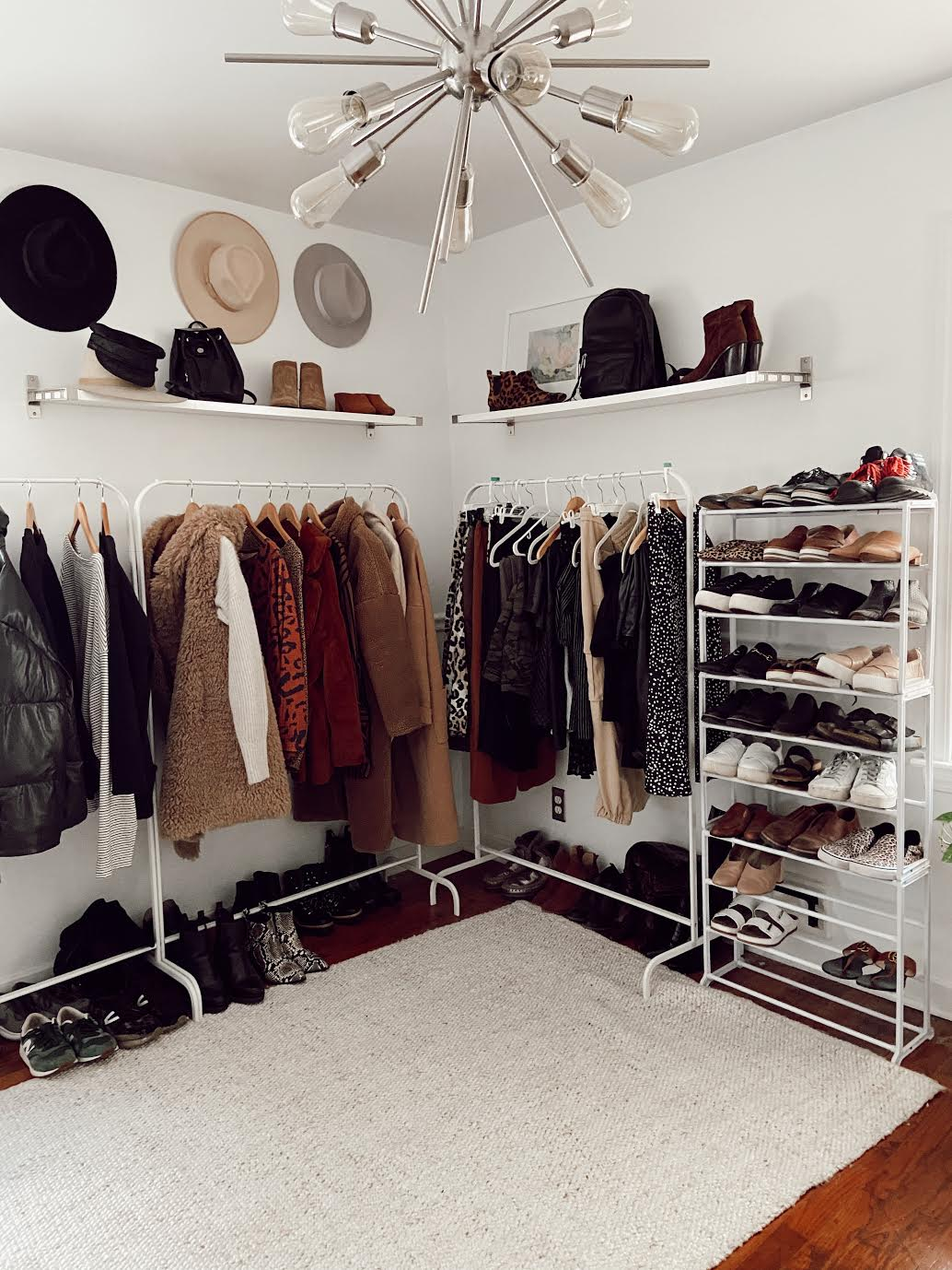 garment rack storage